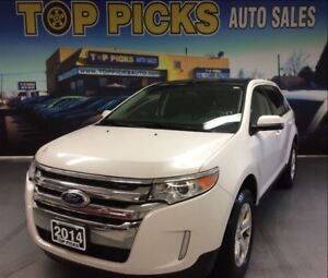 2014 Ford Edge SEL, AWD, LEATHER, PANORMAIC SUNROOF, NAVIGATION!