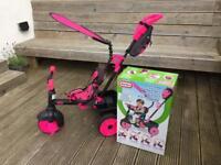 Smart Trike 4 in 1 Deluxe Edition Neon Pink VGC