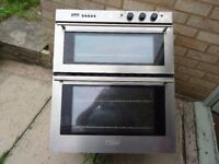 integrated stainless steel electric double oven
