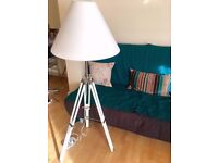 White nautical lamp in excellent condition; adjustable legs