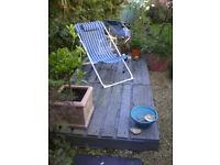 Pallets for informal decking
