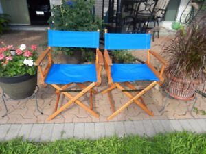 Collapsible Director Style Deck Chairs