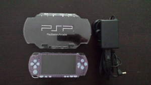 PSP with hard case and original charger