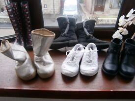 Girls boots and trainer bundle