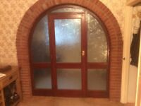 Wooden door and arch frame