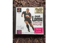 PlayStation 1 boxed Jonah lomu rugby game. Ps1