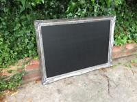 Silver ornate chalkboard wedding chalkboard table seat plan