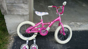 Girls bike with training wheels for sale