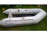 Inflatable boat dinghy and Suzuki 3.5 hp outboard engine