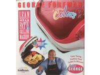"GEORGE FOREMAN SMALL ""COLORS"" GRILL NEW UNUSED BOXED"