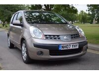 2007 NISSAN NOTE 1.5 SVE DCI, BRAND NEW CLUTCH,MAJOR SERVICE, BIEGE,ALLOYS,DIESEL,HALF LEATHER SEATS