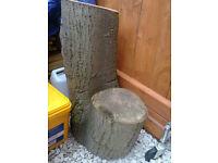 Wood huge garden trunk stump block