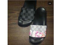 Louis Vuitton, Gucci sliders