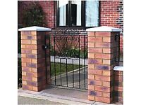 Wickes Chelsea Bow Top Steel Gate Black - 838 x 900 mm / NEW