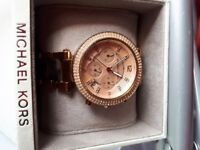 Michael Kors Rose Gold and Tortoise Shell Watch