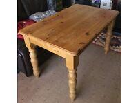 Pine farm house table