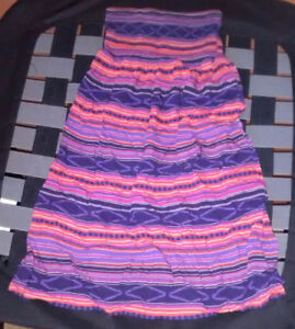 Colourful Strapless Dress
