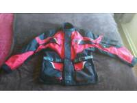 Textile motorcycle jacket and trousers (xl)