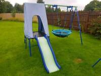Children's slide swing combination
