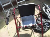 MOBILITY WALKING AID WITH SEAT AND STORAGE CAN DELIVER