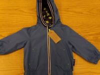 2 Summer Jackets. Grey and Blue 9-12 months