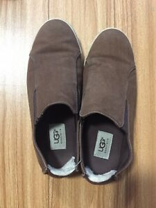 Brown UGG slip on shoe men's USA 7