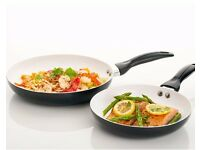 2 Piece Ceramic Frying Pan