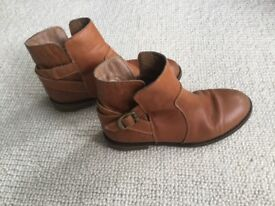 Girls size 1 next leather boots