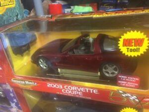 Chevrolet Corvette 2003 diecast 1/18 die cast 50 ième