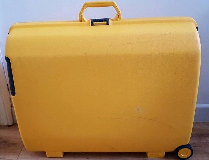 SAMSONITE Yellow Suitcase Hard Shell | in Victoria Park, Cardiff ...