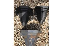 Victorian cast iron rain water drain pipe hoppers X 3