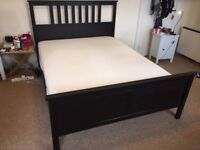 M & H House Clearance - King size Bed Frame & Mattress HEMNES/HÖVÅG - EXCELLENT CONDITION