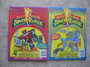 Two Mighty Morphin Power Rangers Flip 'N' Fun Activity Books