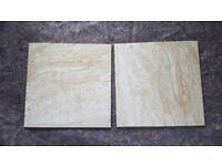 Ceramic tiles marble effect mat