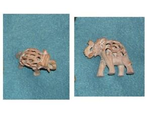 SOAP STONE ELEPHANT CARRYING BABY
