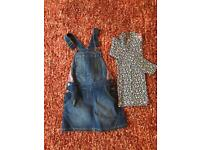 Girls pinafore and top