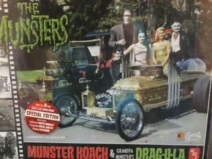 Munster Koach and Drag-u-la  Plastic Model Kit