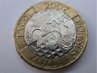 2007 Tercentenary of the Act of Union Two Pound Coin- Three Print Imprecision Abnormalities