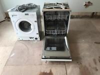 Neff integrated washing machine and dishwasher