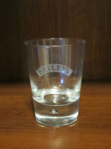 (2) BAILEYS ETCHED TRAPPED BUBBLE DETAIL GLASS