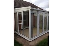 White upvc conservatory in super condition.