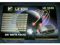 Car amplifier brand new boxed loud upgrade speakers motorhome caravan van