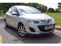 2010 MAZDA 2 1.5 TS2,ACTIVEMATIC,AUTOMATIC,SILVER,PETROL,102BHP,5 DOORS,LOW MILES,ALLOY WHEELS, AC