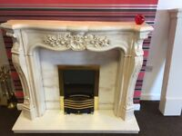 LOUIS STYLE MARBLE FIREPLACE
