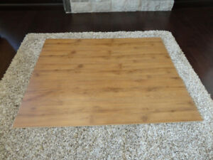 153 Sq.' of Gunstock Oak Click Board Laminate Floor & Underlay