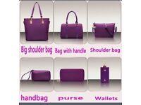 Luxury 6 Set Bags Handbag Shoulder Bag Tote Wallet Key Bag Patent Leather Design Bag for Women.