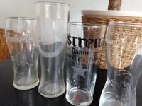 4 Random Pint Glasses