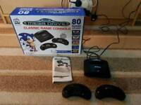 Sega mega drive classic retro gaming console with 80 games included