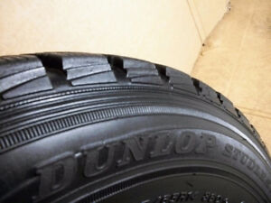 4 Dunlop Graspic DS- 1Tires 185 65 14 on Rims 4 x 100mm