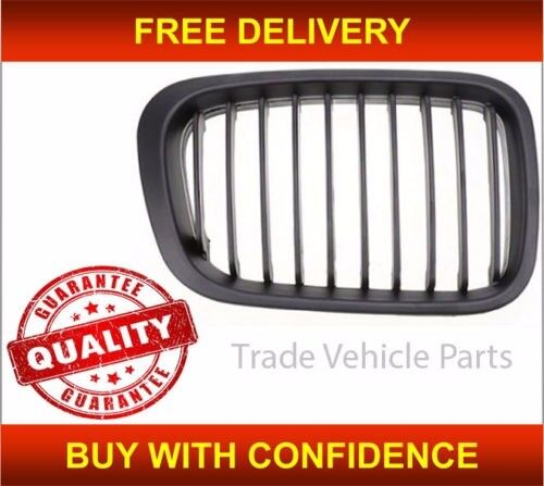 BMW 3 E46 4 DOOR 1998-2001 FRONT KIDNEY GRILLE BLACK DRIVER SIDE NEW HIGH QUALITY FREE DELIVERY